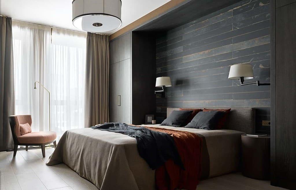 Ремонт спальни в жилищном комплексе