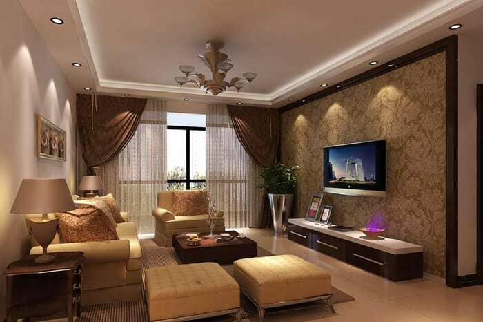 ремонт гостинной в Москве