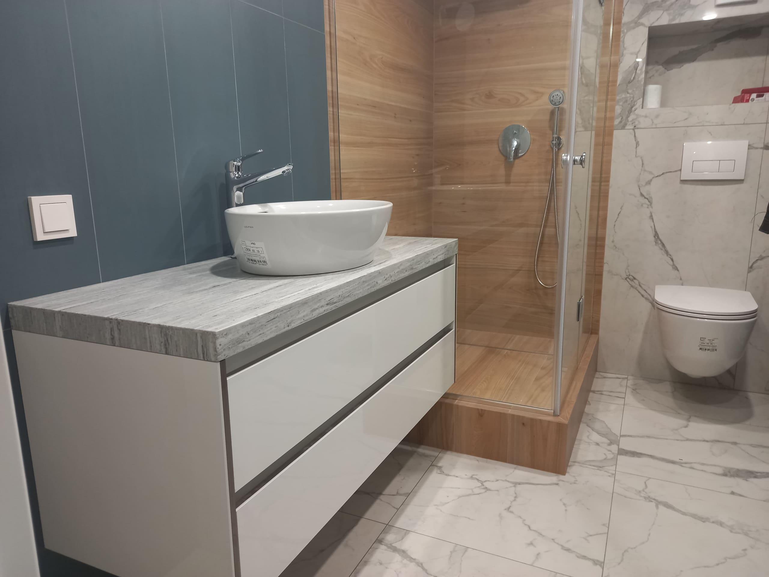 ремонт ванной комнаты в апартаментах